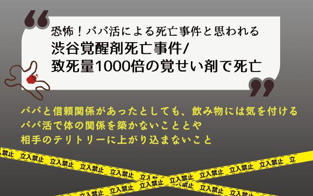 渋谷覚醒剤死亡事件/致死量1000倍の覚せい剤で死亡